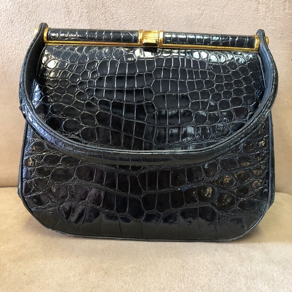 Bags   Vintage Black Rendl Original Alligator Purse   Poshmark 3832672dc5